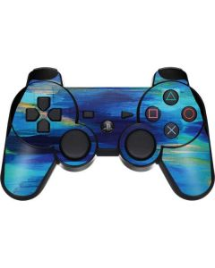 Ocean Blue Brush Stroke PS3 Dual Shock wireless controller Skin