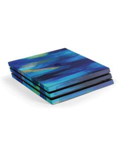 Ocean Blue Brush Stroke PS4 Pro Console Skin