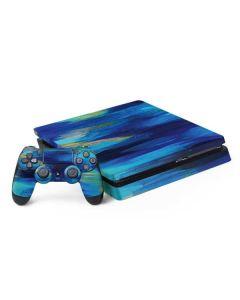 Ocean Blue Brush Stroke PS4 Slim Bundle Skin