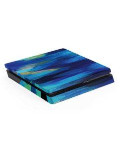 Ocean Blue Brush Stroke PS4 Slim Skin