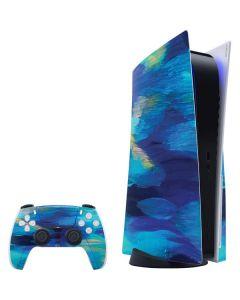 Ocean Blue Brush Stroke PS5 Bundle Skin