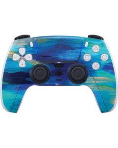 Ocean Blue Brush Stroke PS5 Controller Skin