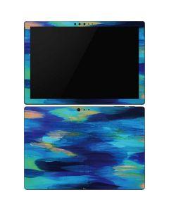 Ocean Blue Brush Stroke Surface Pro 6 Skin