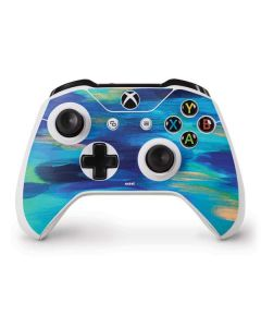 Ocean Blue Brush Stroke Xbox One S Controller Skin