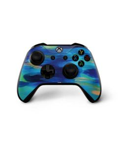 Ocean Blue Brush Stroke Xbox One X Controller Skin