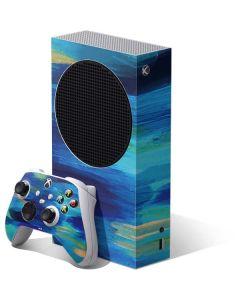 Ocean Blue Brush Stroke Xbox Series S Bundle Skin