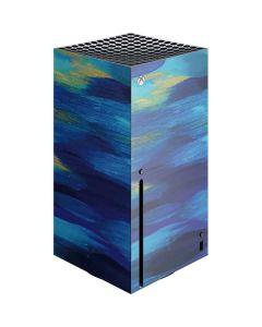 Ocean Blue Brush Stroke Xbox Series X Console Skin