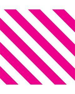 Pink and White Geometric Stripes One X Skin