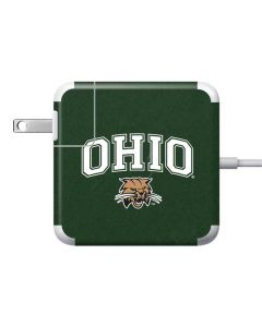 Ohio Bobcats 85W Power Adapter (15 and 17 inch MacBook Pro Charger) Skin