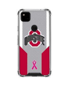 Ohio State Breast Cancer Google Pixel 4a Clear Case