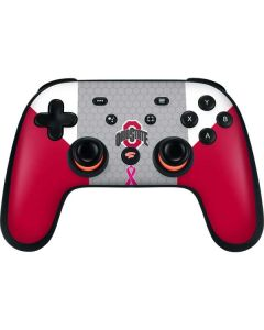 Ohio State Breast Cancer Google Stadia Controller Skin