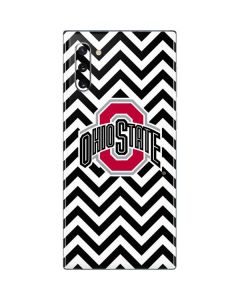 Ohio State Chevron Print Galaxy Note 10 Skin
