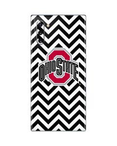 Ohio State Chevron Print Galaxy Note 10 Skin