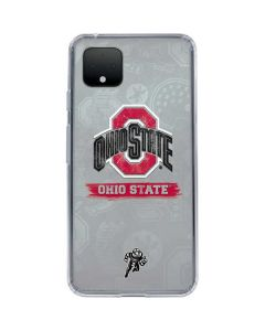 Ohio State Distressed Logo Google Pixel 4 Clear Case