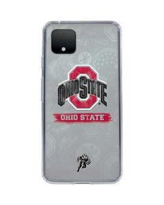 Ohio State Distressed Logo Google Pixel 4 XL Clear Case