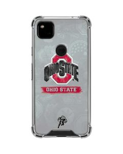 Ohio State Distressed Logo Google Pixel 4a Clear Case