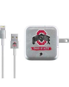Ohio State Distressed Logo iPad Charger (10W USB) Skin