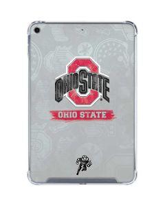 Ohio State Distressed Logo iPad Mini 5 (2019) Clear Case