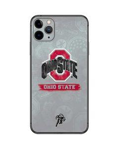 Ohio State Distressed Logo iPhone 11 Pro Max Skin