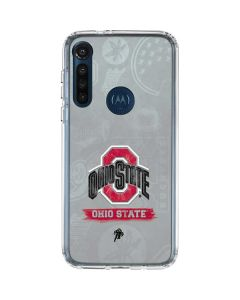 Ohio State Distressed Logo Moto G8 Power Clear Case