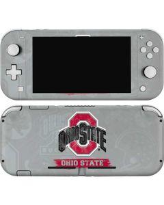 Ohio State Distressed Logo Nintendo Switch Lite Skin