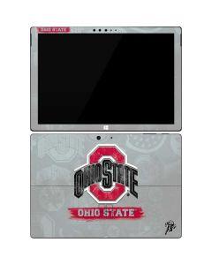 Ohio State Distressed Logo Surface Pro 7 Skin