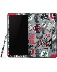 Ohio State Pattern Samsung Galaxy Tab Skin