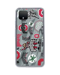 Ohio State Pattern Google Pixel 4 Clear Case