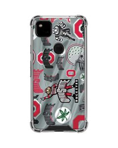Ohio State Pattern Google Pixel 4a Clear Case