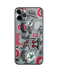 Ohio State Pattern iPhone 11 Pro Skin