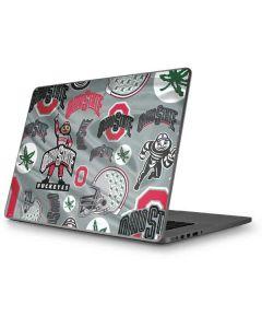 Ohio State Pattern Apple MacBook Pro 17-inch Skin