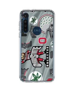 Ohio State Pattern Moto G8 Power Clear Case