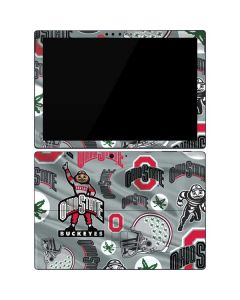 Ohio State Pattern Surface Pro 7 Skin
