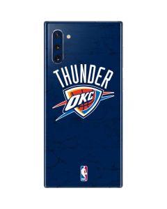 OKC Thunder Distressed Blue Galaxy Note 10 Skin