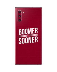 Oklahoma Boomer Sooner Galaxy Note 10 Skin