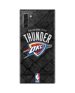 Oklahoma City Thunder Dark Rust Galaxy Note 10 Skin