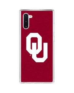 Oklahoma Sooners Red Galaxy Note 10 Clear Case
