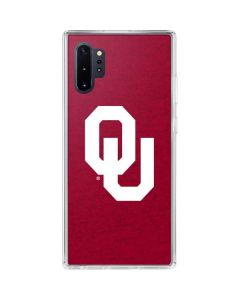 Oklahoma Sooners Red Galaxy Note 10 Plus Clear Case