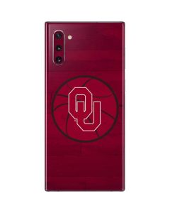 Oklahoma Sooners Wood Court Galaxy Note 10 Skin