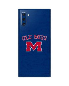 Ole Miss Distressed Galaxy Note 10 Skin