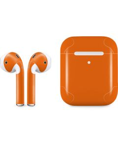 Orange Apple AirPods 2 Skin