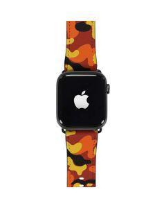 Orange Camo Apple Watch Band 42-44mm