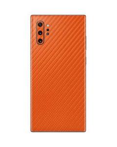 Orange Carbon Fiber Galaxy Note 10 Plus Skin