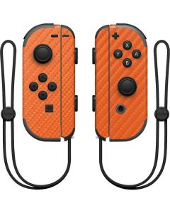 Orange Carbon Fiber Nintendo Joy-Con (L/R) Controller Skin