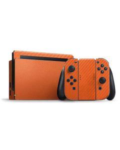 Orange Carbon Fiber Nintendo Switch Bundle Skin