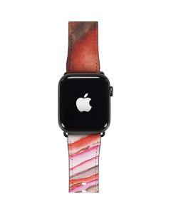 Orange Watercolor Geode Apple Watch Band 42-44mm