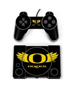 Oregon Ducks Black PlayStation Classic Bundle Skin