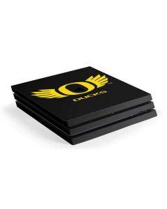Oregon Ducks Black PS4 Pro Console Skin