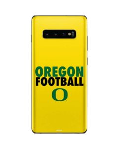 Oregon Ducks Football Galaxy S10 Plus Skin