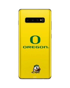Oregon Ducks Green Gradient Galaxy S10 Plus Skin